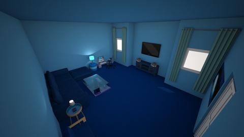 Monochromatic Blue Room - Living room  - by Alexmortensen18