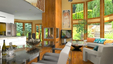Half Moon Living Space - Modern - Living room  - by Bibiche