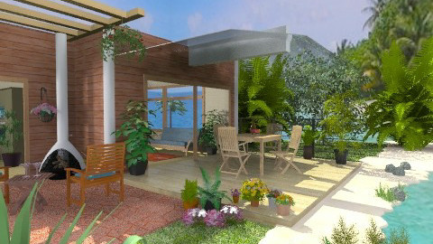 Living on the Beach - Rustic - Garden  - by Bibiche