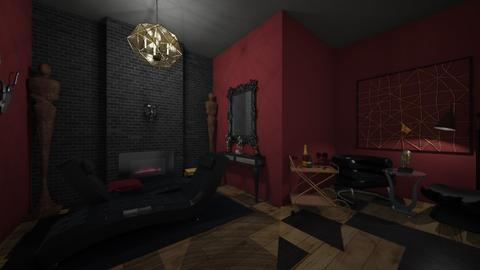 blood red - Glamour - Living room  - by Abba__Connally