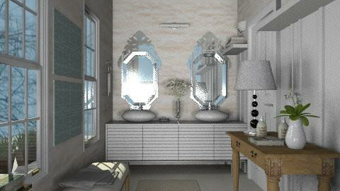 Classic-modern - Eclectic - Bathroom - by du321