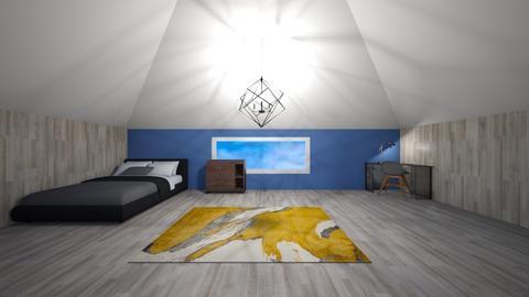 Plain bedroom - Minimal - Bedroom  - by designkitty31