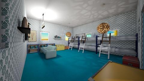 cabin 3 - Bedroom  - by percy_jackson_geek