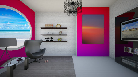 ombre red - Minimal - Living room  - by donella