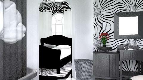 My Black&White (ensuite) - Modern - Bathroom  - by decorj