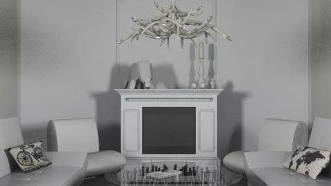 All White livingroom - Minimal - Living room  - by Rechoppy92