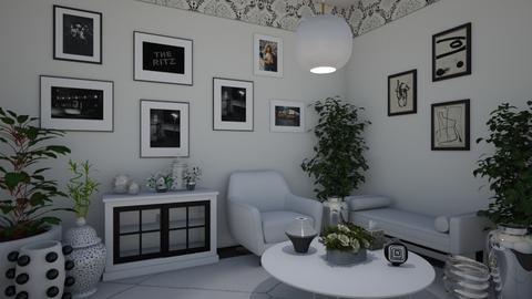 white and Black - Modern - Living room - by Irishrose58