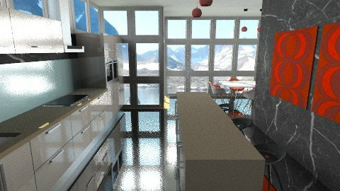 Glass Kitchen - Modern - Kitchen  - by BriaFaith