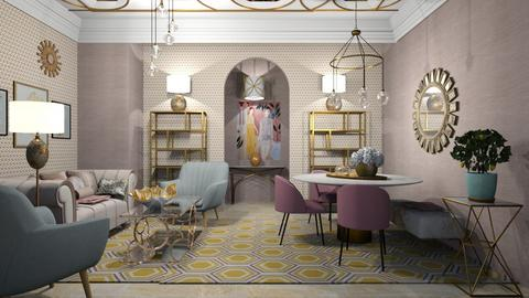 Ar Deco Living - Living room  - by chania