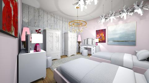 Twin Girl Room  - Bedroom - by the ice magical unicorn