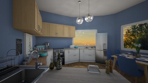 Farmhouse_Modern Kitchen  - Modern - Kitchen  - by Natalie222