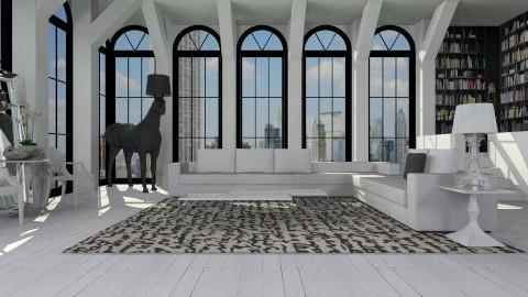 Black n white - Modern - Living room  - by AlSudairy S