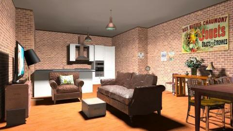 new york - Vintage - Living room  - by Charlotte Aliceee
