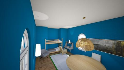 Small Blue Bedroom - Kids room  - by Snowball Styler