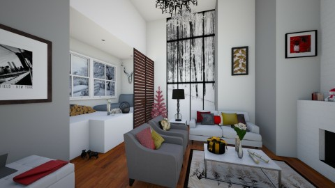 Xmas Competition Entry - Living room - by jennyrose12