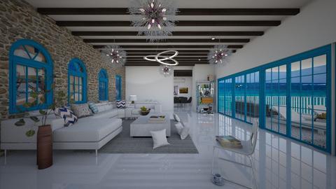Greek living room  - Living room  - by 1D wolfgal