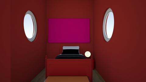 red  - Bedroom  - by kballard