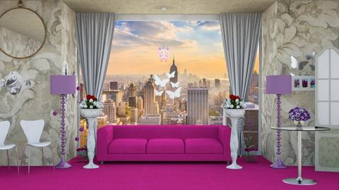 Pink_View_ - Living room  - by Jahsoftball_