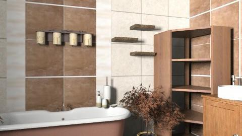 Wood bathroom - Modern - Bathroom  - by owwwwwwwwwl