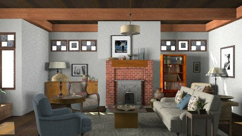 Craftsman Living Room - Vintage - Living room  - by LizyD