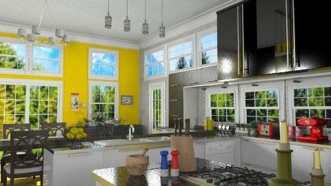 B&W - Modern - Kitchen  - by Bibiche