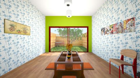 Japanese  - Dining room - by sokolaadipisar