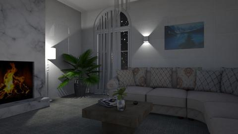Night Time - Living room  - by Arctic_Wolf