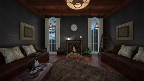 Wood - Vintage - Living room  - by Drama Llama