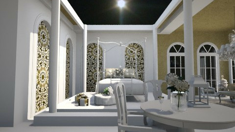 a white valentine - Bedroom  - by Sara alwhatever