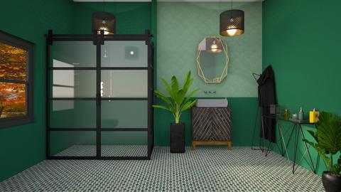 art deco bathroom - Bathroom  - by fullmoon13
