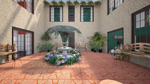 Courtyard - Garden  - by SammyJPili
