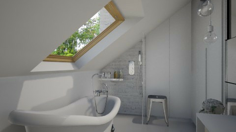 Attic Simple Bathroom - Eclectic - Bathroom  - by Maria Esteves de Oliveira