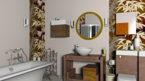 bathroom - Rustic - Bathroom  - by enikovas