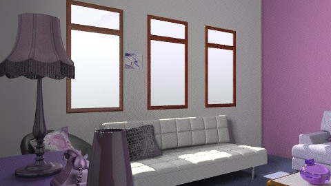 Purple - Glamour - Living room  - by Decorator1000