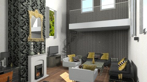 Humbug lounge - Glamour - Living room  - by Nicky West