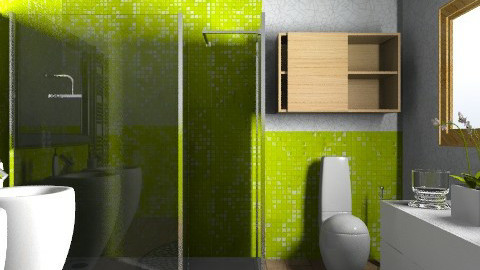 Apple mosaic tile - test - Modern - Bathroom  - by ovchicha