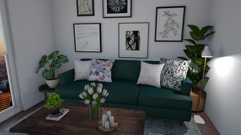 green pillow - Modern - Living room  - by monek299