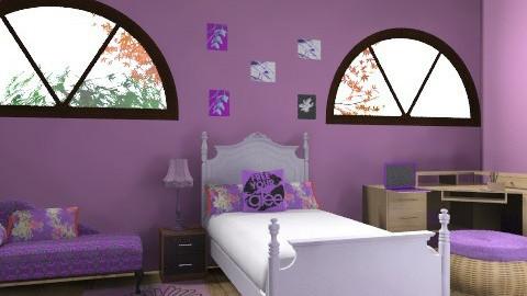 Very Purple Bedroom - Modern - Bedroom - by iwoolnough