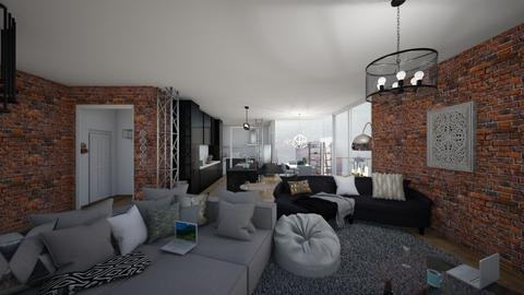 brickwork apartment - Living room  - by ange06