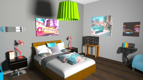 MTR - Eclectic - Bedroom - by whoivan6722