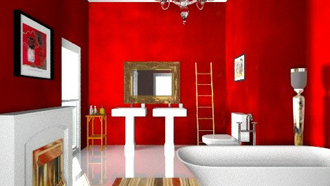 red - Glamour - Bathroom  - by mrschicken