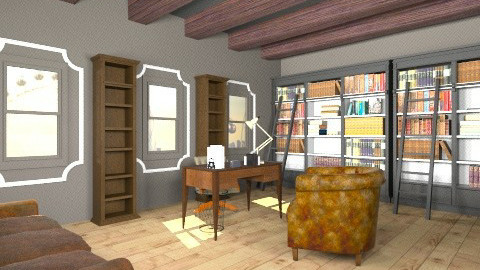 home office - Vintage - Office  - by mire roig