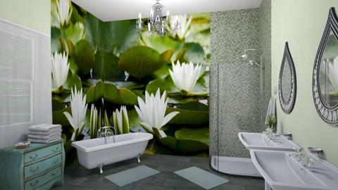 water lily - Bathroom  - by fippydude