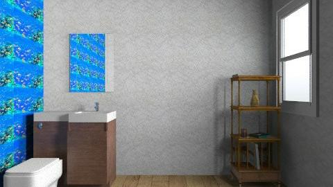 FISHTANK BATHROOM - Modern - Bathroom  - by tigerclaw2001