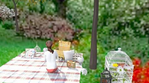 tea light chandelier picnic - Classic - Garden  - by kadee1111