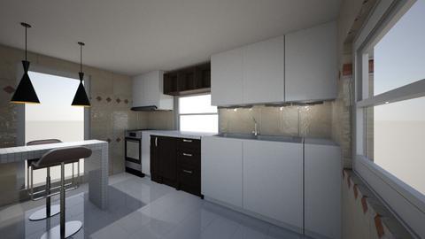 oge villa second kitchen - Kitchen - by jfx