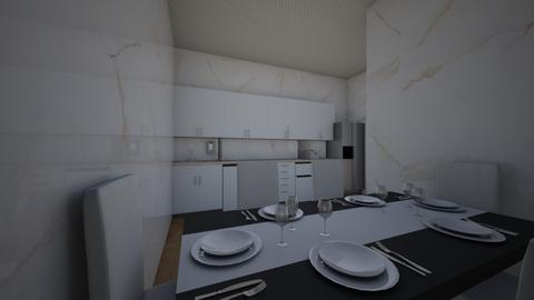 Kitchen and Diningroom - Modern - Kitchen - by ThePandaBear