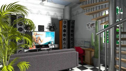 like my home - Retro - Living room  - by lonit