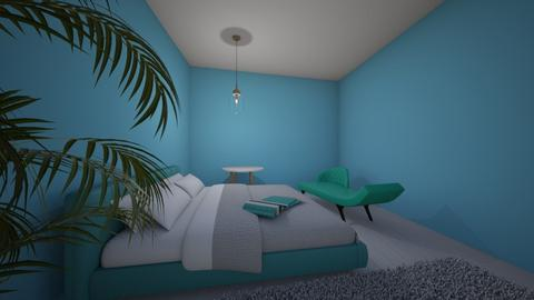 turq and room - Retro - Bedroom  - by Seco0625