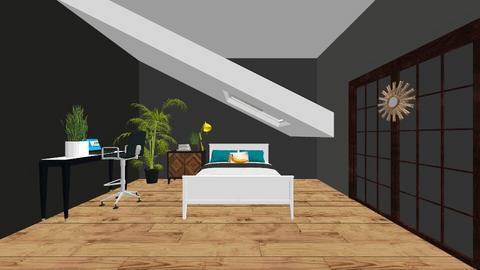 modern bedroom - Bedroom - by Magsnumber1